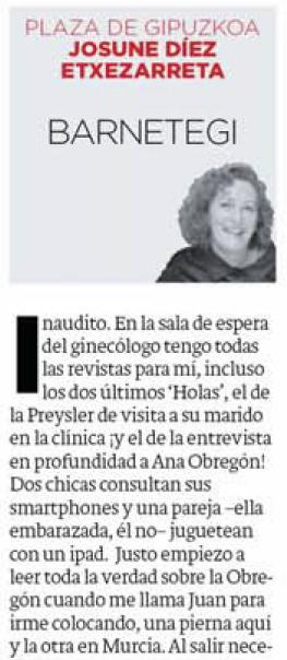Imagen de la Columna aparecida en Diario Vasco