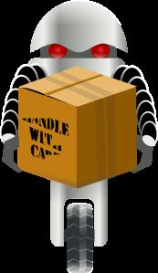Imagen de robot llevando una caja