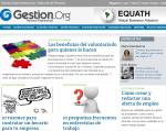Captura de pantalla de la web de gestion.org