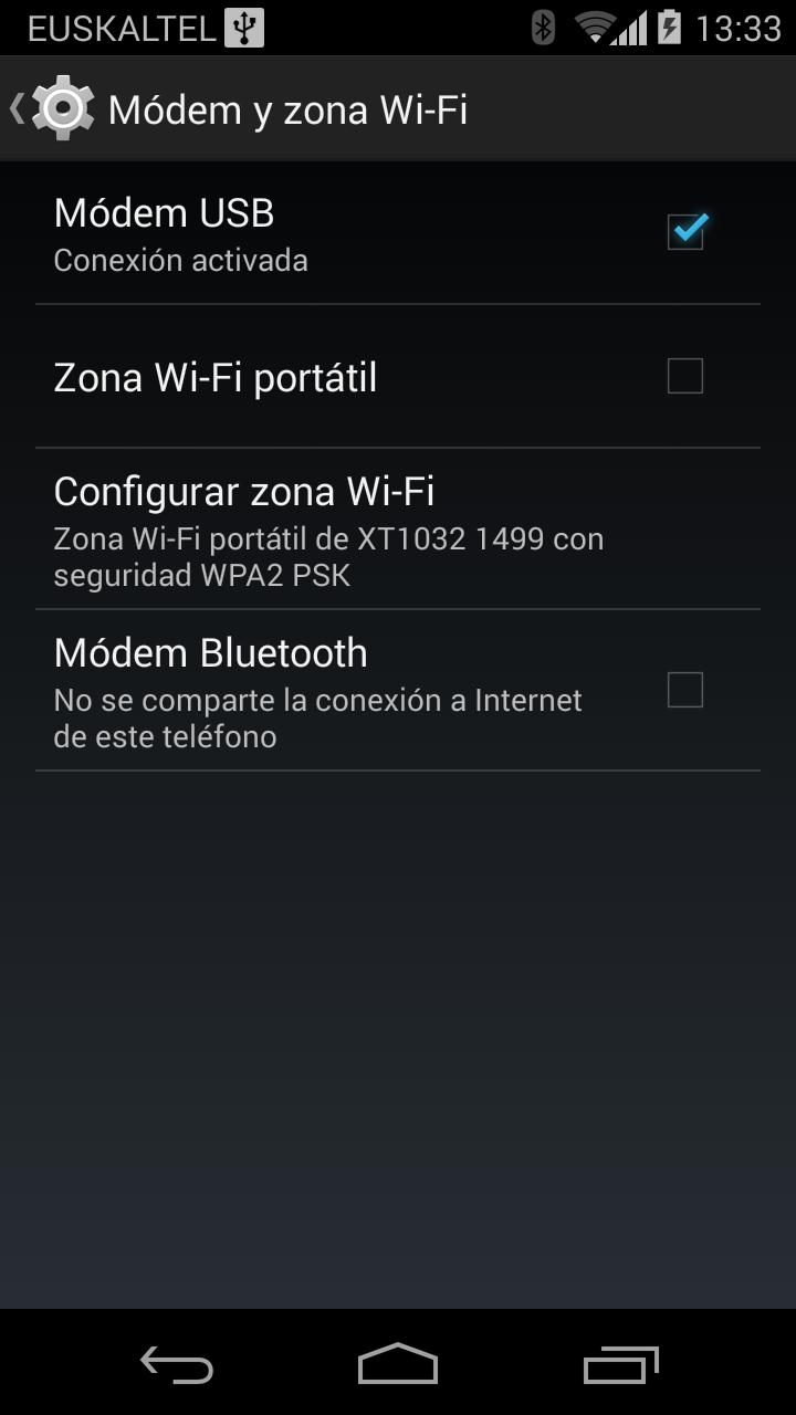 Truco Conectar a internet a través del Bluetooth del móvil