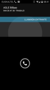 Motorola Moto G recibiendo una llamada con pantalla bloqueada