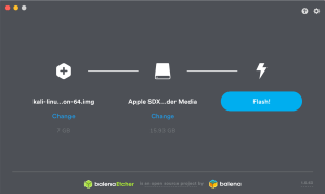 Grabar Kali Linux en SD con Balena Etcher para Raspberry Pi 4